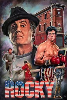 Rocky Balboa Poster, Rocky Poster, Rocky Series, Rocky Film, Best Movie Posters, Movie Poster Art, Sylvester Stallone, Bruce Lee Pictures, Stallone Rocky