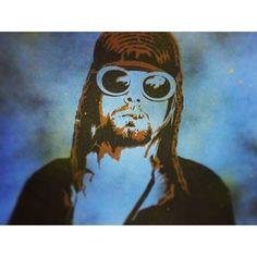 Kurt Cobain Tribute - Spray Paint on canvas by @artist_rayferrer #PlutoniumPaint #SprayPaint #MadeInTheUSA #Nirvana