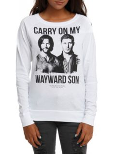 Supernatural Wayward Son Girls Pullover Top - not in my size anymore :(