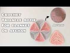 Crochet Quilt, Baby Blanket Crochet, Diy Crochet, Crochet Doilies, Crochet Instructions, Crochet Diagram, Crochet Triangle, 3d Triangle, Crochet Christmas Stocking Pattern