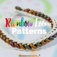 Add some variety to your arm and your crafting with these Rainbow Loom Patterns. These DIY bracelets are easy to make, but they look absolutely stunning. This is your one-stop shop for Rainbow Loom video tutorials. Rainbow Loom Fishtail, Rainbow Loom Charms, Rainbow Loom Bracelets, Rainbow Loom Tutorials, Rainbow Loom Patterns, Beaded Bracelet Patterns, Beading Patterns, Fun Patterns, Art Activities For Kids