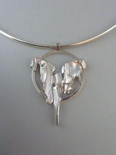 Pendant, silver casted in eucalyptus bark Anita Braat-Hopstaken, Passions Jewellery Design