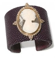 I like this cameo cuff. I imagine that Emily Dickinson would wear it on a Vespa.