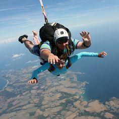 saut en parachute jump