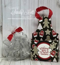 The Scrap n' Stamp Shop: CHRISTMAS COOKIE CUTTER APRON BOX TUTORIAL