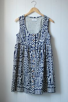 tribal print sun dress