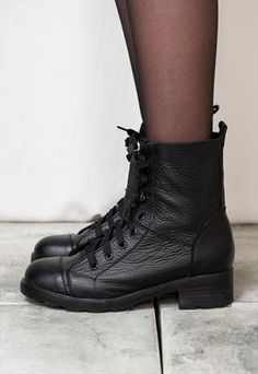 Real Leather Grunge Boots £23.00