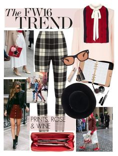 """fall fashion trends 2016"" by cutandpaste ❤ liked on Polyvore featuring Valentino, MaxMara, Burberry, Chanel, Givenchy, Kate Spade, Lipstick Queen, Oliver Peoples, Eugenia Kim and Miró"