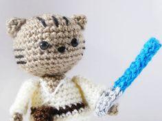 Jedi Cat Amigurumi Pattern by MysteriousCats.deviantart.com on @DeviantArt