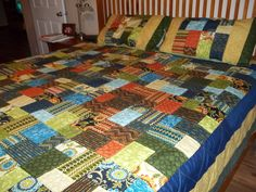 This is a quilt I made with a Layer cake from MSQC. @Missouri Star Quilt Company - If I won the Chevron Fat Quarter Bundle I'd make I'd make a quilt for one of my daughters.