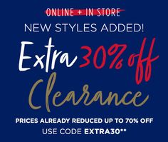 Take an Extra 30% Off Clearance Styles at Aeropostale