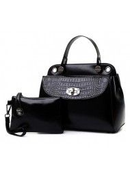 BT4768-BLACK BAG ( 2 in1) Material :  PU leather Length:        27 cm Height:        21 cm Depth:           14 cm  Bag Mouth:    Zipper       Long Strap:     yes  0.95   kg   ..