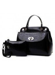 BT4768-BLACK BAG ( 2 in1) Material : PU leather Length:    27 cm Height:    21 cm Depth:      14 cm Bag Mouth:  Zipper    Long Strap:   yes 0.95  kg   ..