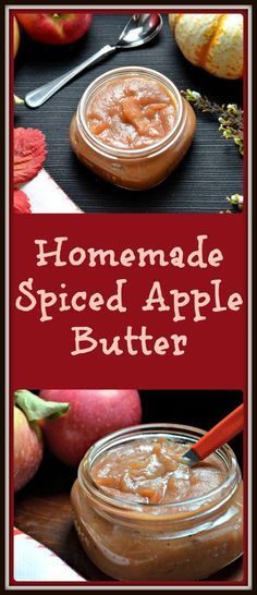Easy Homemade Spiced Apple Butter... this recipe includes slow cooker and stove…