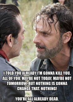 "Rick and Negan. The Walking Dead S07 E16 ""The First Day of the Rest of Your Life."" Season 7 Episode 16. #twd"