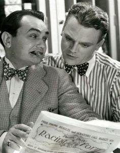 James Cagney  y Edward G Robinson, pequeños de estatura pero gigantes de la actuación!