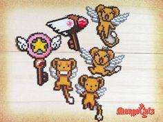 Cardcaptor Sakura hama bead sprites Star Key necklace by MangoCats, $7.00