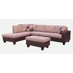 Shop for Sentra Fabric Left Facing Sectional with Ottoman Set. Get free delivery On EVERYTHING* Overstock - Your Online Furniture Shop! Sectional Sofa Sale, Leather Sectional Sofas, Living Room Furniture Online, Buy Furniture Online, Best Sectionals, Ottoman Furniture, Upholstery, Home, Products