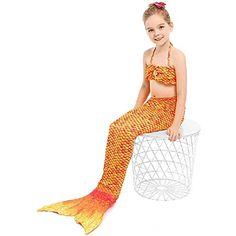 3pcs scintillante bambola di sirena vestiti accessori regalo ragazze misura Ob