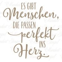 Holzstempel Es gibt Menschen, die passen perfekt ins Herz. Inspirierender Text, German Quotes, Slogan, Hand Lettering, Qoutes, Birthday Cards, Love Quotes, Encouragement, Lyrics