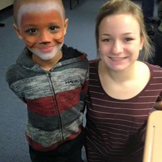Our theatre activity went over well with our Green Buddy Family!  Some @isu_theatre_and_dance students came out to teach the kids about @illinoisstateu Theatre program through games and face paint!  #mentoringmilestones #CollegeMentors #CollegeMentorsforKids by ilstu_cmfk