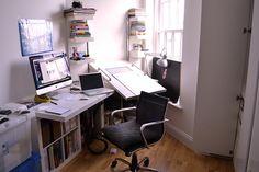 Graphic Design Worke Studio Desk Home Office Setup Studios Work Es Desks Future House
