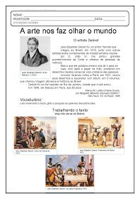 Atividades Pedagogica Suzano: 4º ano Debret EM PDF Art Education, Homeschool, Teacher, Clip Art, Memes, Josi, 1, History Activities, Visual Art Lessons