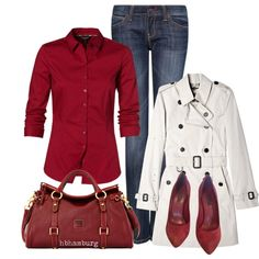 """No. 387 - Red"" by hbhamburg on Polyvore"