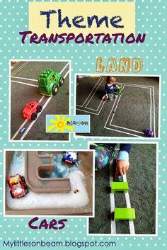 My Little Sonbeam: October Week 1 - theme land transportation (cars) craft and activity ideas.  Mylittlesonbeam.blogspot.com  Follow on Facebook   Homeschool preschool learning activities for 2,3,4 year olds.
