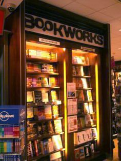 This is our space inside a Hudson Booksellers store at the Albuquerque International Sunport. This one's outside security; the inside-security store is opening soon. Now you can shop Bookworks when you're just passing through Albuquerque!