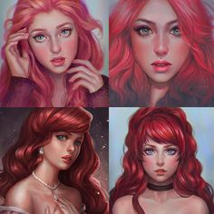 When in doubt draw redheads Tag your friends who are redheads!  ------------------- #drawing #digital #digitalart #digitaldrawing #painting #Photoshop #photoshopcc #fanart #disney #disneyariel #disneyfanart #disneyprincess #redhead #redheads #portrait #art #artph by serafleur.art