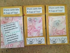 Recycled Gold &  Floral Christmas Tea Altered by CreateItGreen, $3.75 Cigarette Box, Christmas Tea, Think Of Me, Tea Cups, Recycling, Goodies, Boxes, Hand Painted, Crafty
