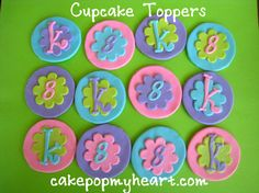 Cupcake Toppers  www.cakepopmyheart.com