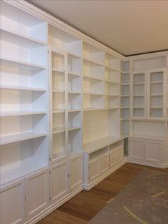 Libreria su misura laccata bianca