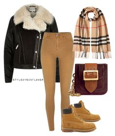 """""""Untitled #141"""" by stylebysunflower ❤ liked on Polyvore featuring River Island, Timberland and Burberry"""