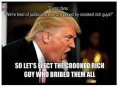 Crooked Thieving Trump brags of special favors from Elected Politicians...