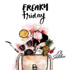 I'm sooo back! Happy Friday! 🍍#elisketches #fashion #fashionsketch #art #artph #fashionillustration #makeup #satchel #bikini #maclipstick #mascara #macmakeup #prada #fashionillustration #flatlay #whatsinmybag #chanel #mac
