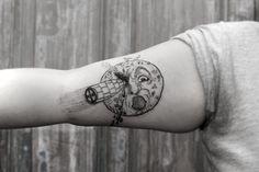 Le voyage dans la lune tattoo by Gabba Salinas