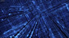 Abstract Binary Blue Digital Art Matrix Wallpaper