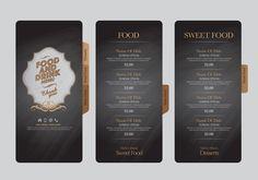 Food and drink menu design creative vector 02