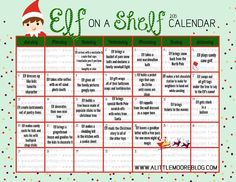 2015 Elf on the Shelf Calendar and GIVEAWAY