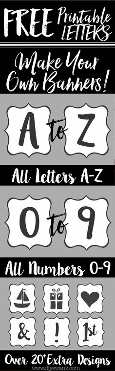 Create your own banner with these Free printable letters!