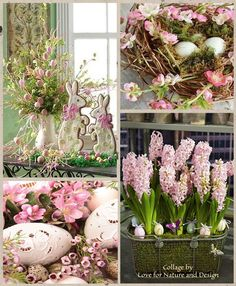 Because apparently pink has to happen during Easter. Beautiful Collage, Beautiful Flowers, Shabby Chic Colors, Pot Pourri, Color Collage, Pallet Painting, Easter Celebration, Collages, Hello Spring