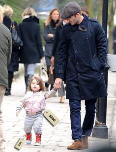 Harper Beckham with daddy David Beckham