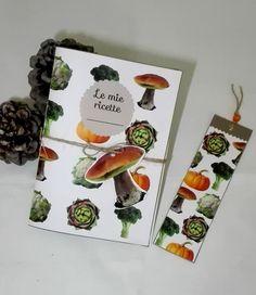 Vegetali - ricettario con pattern originale stampato in copertina   #illustration #graphicdesign #patterndesign #bookmark #notebook