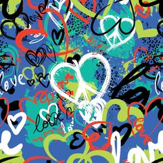 Blue Peace Love print is part of the Spring 2014 Mixed Bag Designs collection of reusable bags and shopping totes.