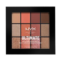 Nyx Ultimate Multi-Finish Shadow Palette warm rust