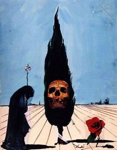 Salvador Dali - Death Card