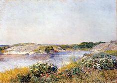 Posilippo - Childe Hassam -The Little Pond, Appledore,1890-