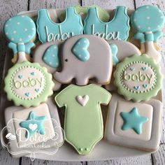 "320 Likes, 3 Comments - Christy (@dolcecustomcookies) on Instagram: ""#babyshowercookies #elephantbabyshower #decoratedcookies #decoratedsugarcookies #sugarcookies…"""